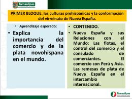 Nueva España u sus relaciones con el mundo