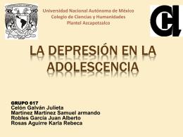Depresión en adolescencia - Portal Académico del CCH