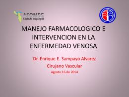manejo farmacologico e intervencion en la enfermedad venosa