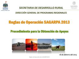 Reglas Sagarpa cinco 2013