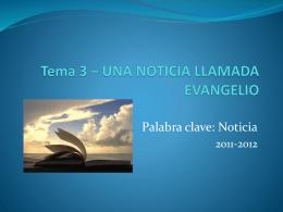 Tema 1 * LA BIBLIA, PALABRA DE DIOS
