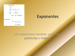 Exponentes - riosdianaconalep