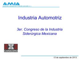 Presentación automotriz - Cámara Nacional de la Industria del