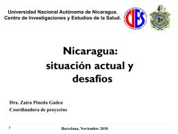 Nicaragua - Salut per al desenvolupament