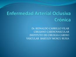 Enfermedad Arterial Oclusiva Crónica