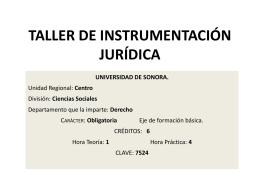 presentación del programa - Academia Jurídico Formativa