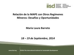 Relación de la MAPE con otros Regímenes Mineros