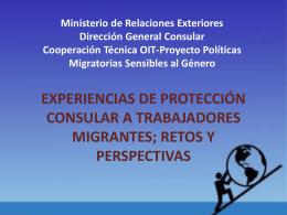 experiencias de protección consular a trabajadores migrantes