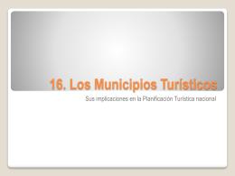 Los Municipios Turísticos