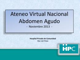abdomen agudo - Ateneos Virtuales
