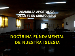 Doctrina Fundamental De Nuestra Iglesia