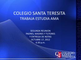 Presentación Segunda Entrega notas 2012pptx