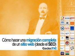 Transparencias conferencia migración SEO