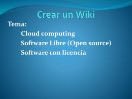 Trabajar con herramientas web 2