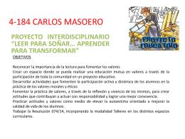 4-184 CARLOS MASOERO - Escuelas en movimiento