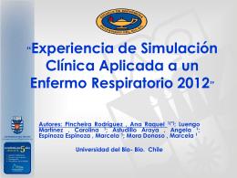 Experiencia de Simulación Clínica Aplicada a un Enfermo