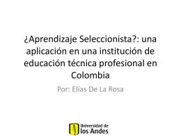 Aprendizaje_Seleccionista