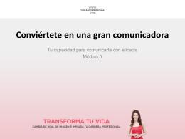 Conviértete en una gran comunicadora