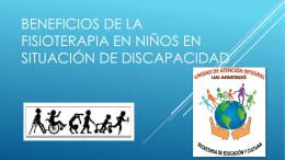 BENEFICIOS DE LA FISIOTERAPIA EN NIÑOS CON