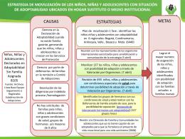 Información de niños, niñas y adolescentes con