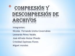 compresión y descompresión de archivos