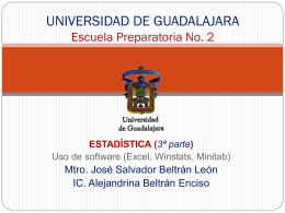 UNIVERSIDAD DE GUADALAJARA Escuela Preparatoria No