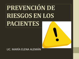 prevencion de eventos adversos en los pacientes