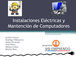 Instalaciones Eléctricas y Mantención de Computadores