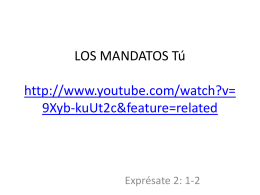 LOS MANDATOS Tú http://www.youtube.com/watch?v=9Xyb