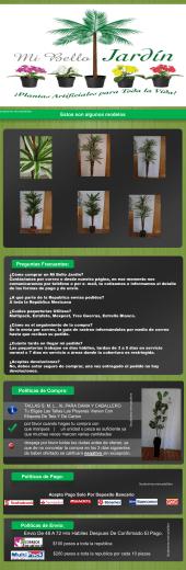 Politicas de Envio - Plantas Artificiales Mi Bello Jardin