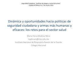 Dinámica y oportunidades hacia políticas de seguridad ciudadana y