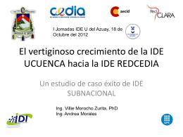El vertiginoso crecimiento de la IDE UCUENCA hacia la IDE
