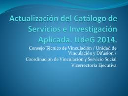 4.2 Catalogo de servicios 2014 - Consejo de Rectores