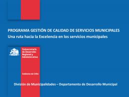Programa Gestíón de Calidad Municipal.