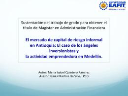 El mercado de capital de riesgo informal en Antioquia: El caso de