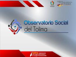 Presentación de Lanzamiento Observatorio Social del Tolima