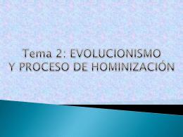 Presentación evolucionismo