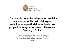 Presentación Pía Mora - Centro de Políticas Públicas UC
