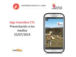App IncendiosCYL presentación 25-7