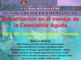 ACTUALIZACION EN COLECISTITIS AGUDA - CMP