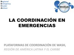 3 La coordinacion del sector APS en Emergencias