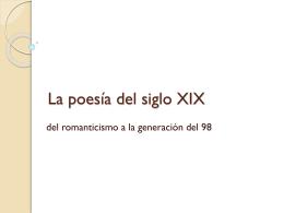 La poesía del siglo XIX