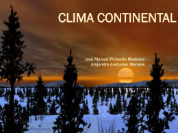 Clima Continental Grupo B