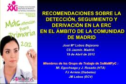 Prevención, diagnóstico y seguimiento de la ERC