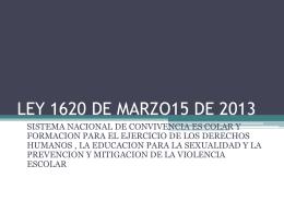 Descargue la presentación en Power Point de la Ley 1620