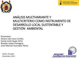Análisis multivariante y multicriterio como