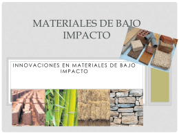 Materiales de bajo impacto (1) - Over-blog
