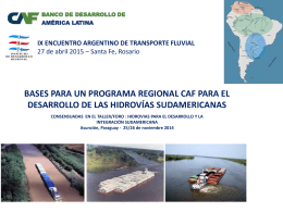 Descargar presentación - Encuentro Argentino de Transporte Fluvial