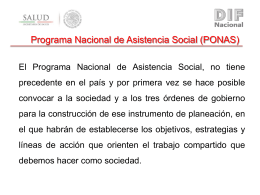 PONAS - DIF Nacional