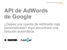 ¿Qué significa API de AdWords?